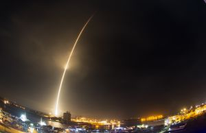 The SpaceX Falcon 9 rocket lifts off at Cape Canaveral Air Force Station, Monday, Dec. 21, 2015. The rocket, carrying 11 communications satellites for Orbcomm, Inc., is the first launch of the rocket since a failed mission to the International Space Station in June. (Craig Bailey/Florida Today via AP)