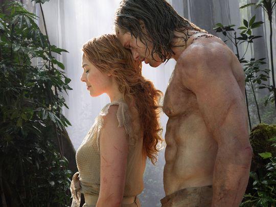 Margot Robbie and Alexander Skarsgård in 'Tarzan'.