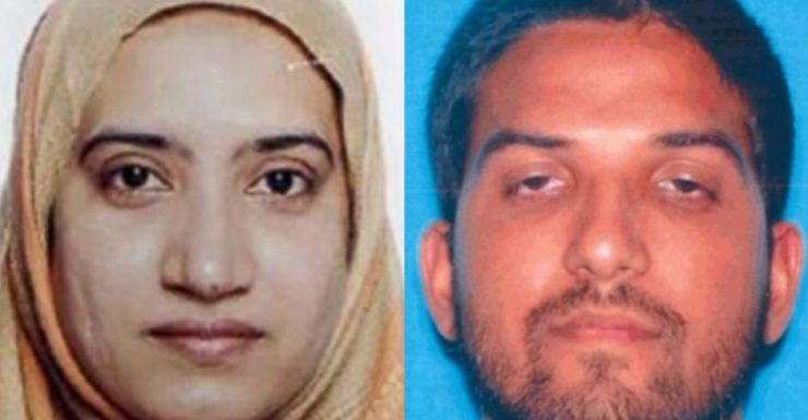 Tashfeen Malik (L) and Syed Farook (R) were killed in a firefight with police