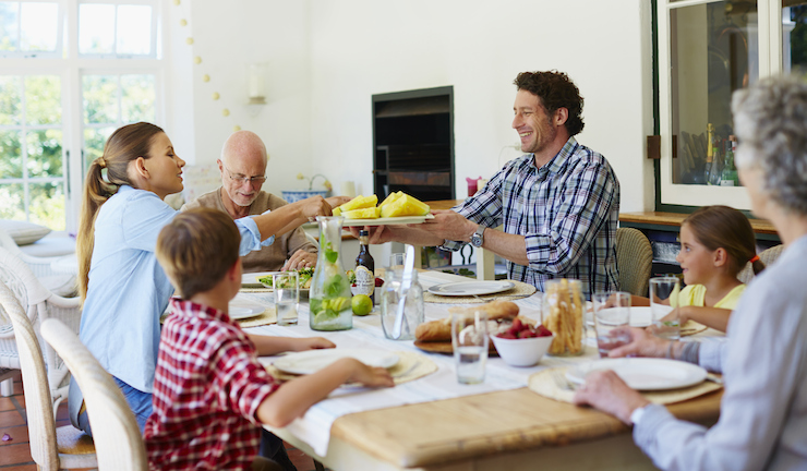 Having dinner as a family can improve your children's self-esteem. Photo: Getty