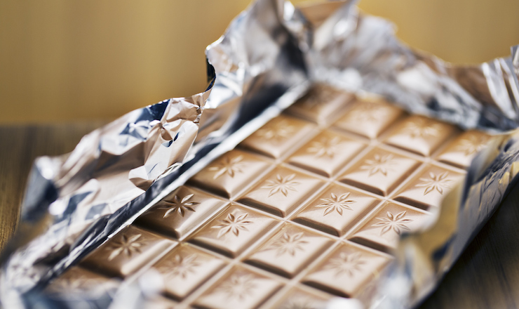 Even just unwrapping a chocolate bar before you eat it counts as a ritual. Photo: Getty