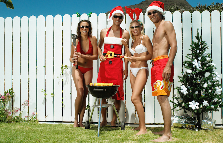 Australian Christmases leave little room for glamour. Photo: Getty
