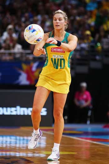 Julie Corletto's final game was a world championship final win over the Silver Ferns. Photo: Getty