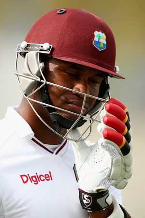 Marlon Samuels give the Windies some crucial x-factor. Photo: Getty