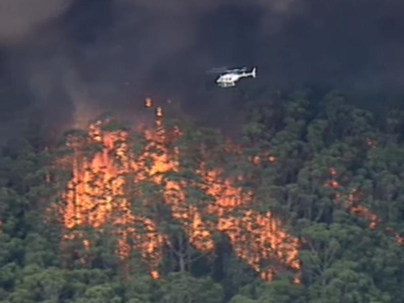 Nine chopper over fire