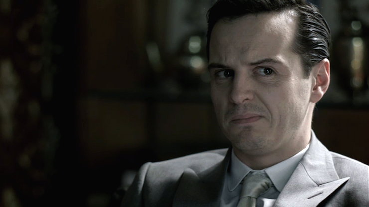 Andrew Scott as James Moriarty. Photo: BBC