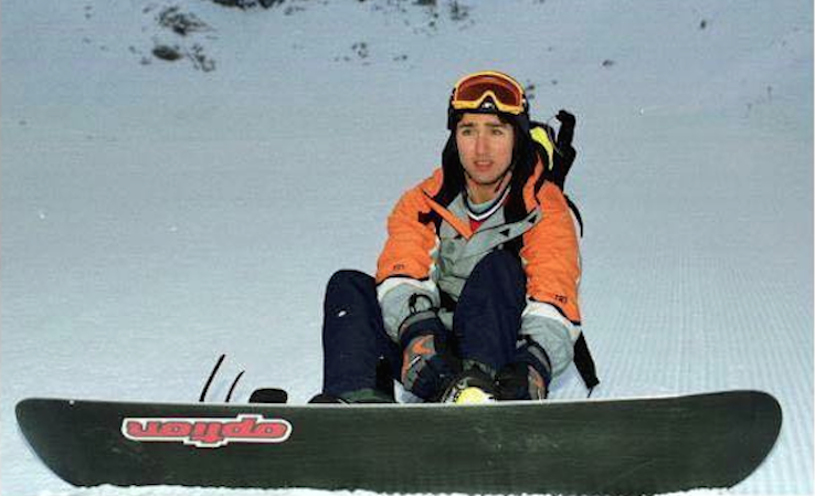 Trudeau on the slopes. Photo: Facebook