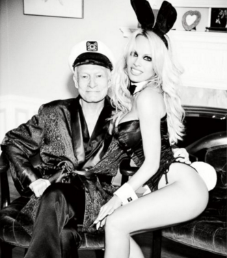 """Anderson said her and Hef have shared """"mutual respect"""" over the years. Photo: Playboy"""