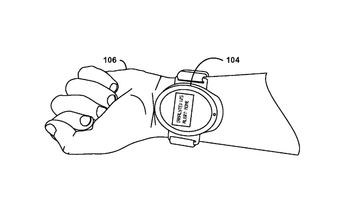 The smart watch can be hand-held or worn on the wrist. Photo: Google
