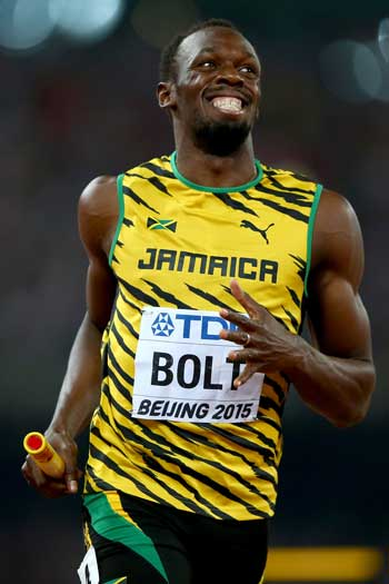 In a lousy year for athletics, Usain Bolt's world championship-winning efforts were a highlight. Photo: Getty
