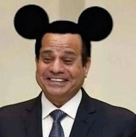 The doctored image of al-Sisi has now been shared thousands of time. Photo: Facebook