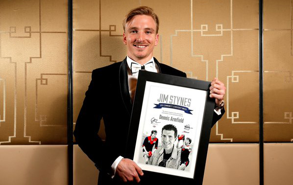 The Carlton player took out this year's Jim Stynes Community Leadership Award.