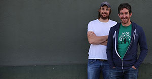 A supplied image obtained Friday, Dec.11, 2015 of the Co-Founders of Sydney technology company Atlassian Scott Farquhar and Mike Cannon-Brookes. Aussie tech darling Atlassian has smashed its debut on the US Nasdaq market, with its stock soaring by 32 per cent, valuing the company at $A8 billion and making its co-founders overnight billionaires. (AAP Image/Howorth) NO ARCHIVING, EDITORIAL USE ONLY