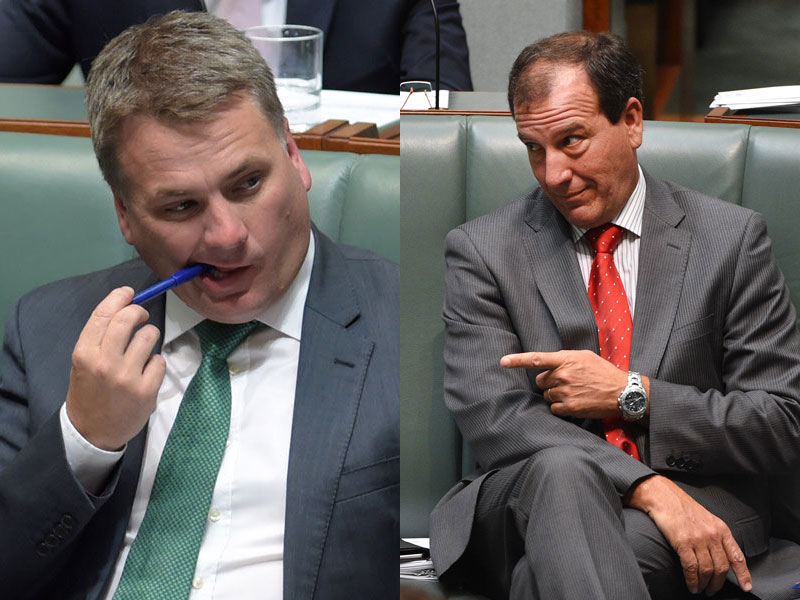 Jamie Briggs and Mal Brough