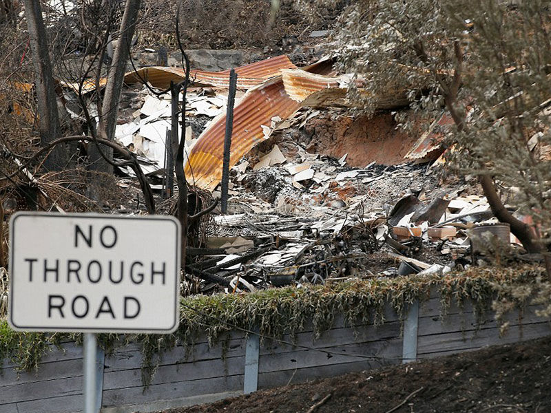 The aftermath of the devastating bushfires earlier this year.