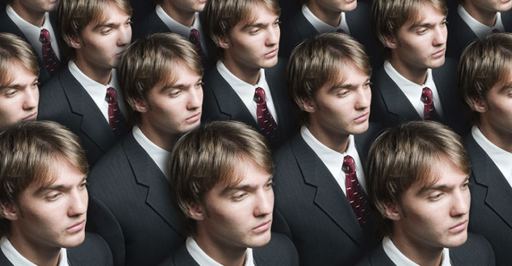 Businessman production cloning