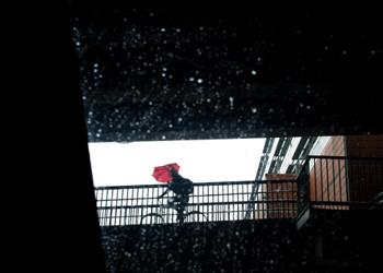 cyclist australia rain