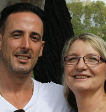 Michael, who spent 16 years addicted to heroin, with Odyssey House admissions and intake coordinator Kate Taylor.