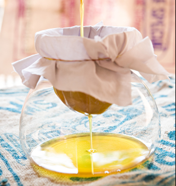 Creating clarified butter - or ghee.
