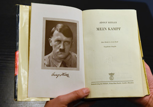 A German edition of Mein Kampf. Photo: Getty