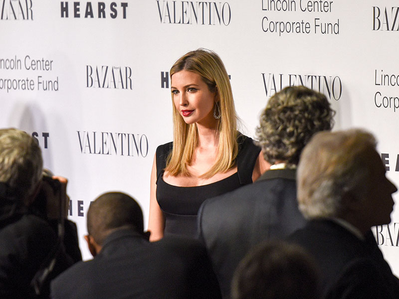 "NEW YORK, NY - DECEMBER 07: Ivanka Trump attends ""An Evening Honoring Valentino"" Lincoln Center Corporate Fund Gala at Alice Tully Hall at Lincoln Center on December 7, 2015 in New York City. (Photo by Grant Lamos IV/Getty Images)"