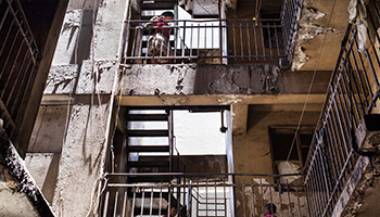 Gangs frequently take over buildings in Johannesburg. Photo: AAP
