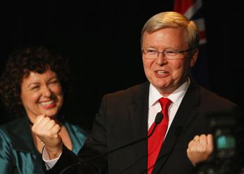 Kevin Rudd's honeymoon period . Photo: Getty