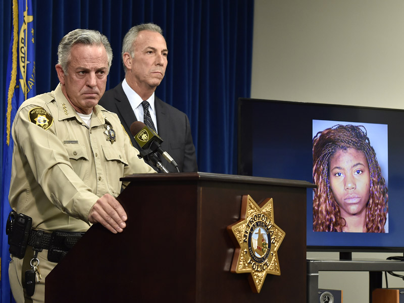 Officers with an image of Lakeisha N. Holloway from Oregan.