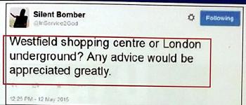 tweet london bomb plot