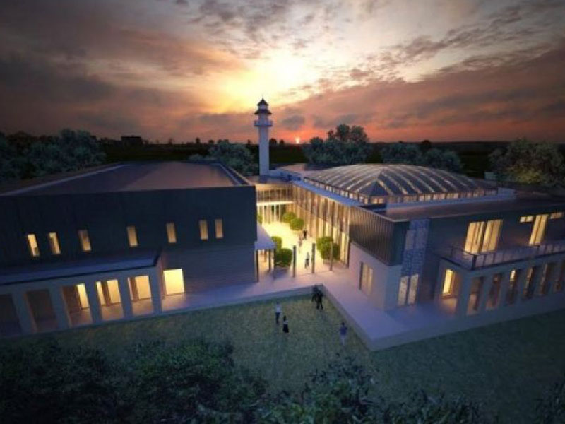 An artist's impression of the proposed mosque.