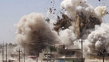 Islamic State have launched numerous raids on the Iraqi city. Photo: AAP