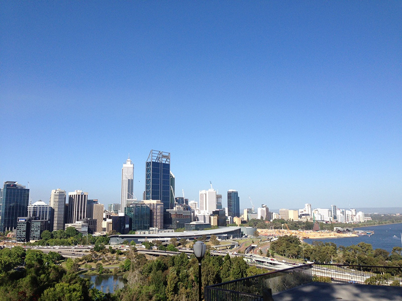 Perth, city, skyline, apartments