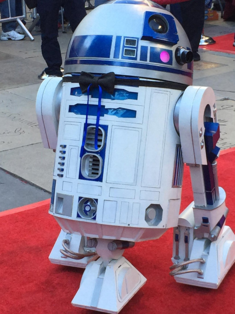 R2-D2 wore a bow tie for the occasion. Photo: Twitter
