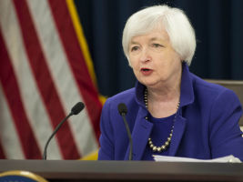 Federal Reserve Chair Janet Yellen following the announcement.