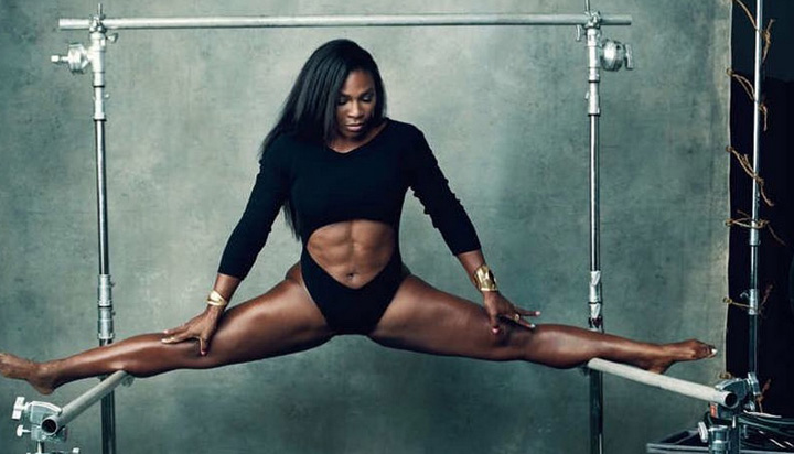Williams showed off her incredible strength in New York Magazine in August. Photo: New York Magazine