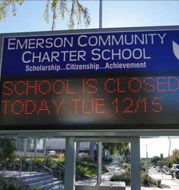 Police are investigating schools across the LA district after the threat.