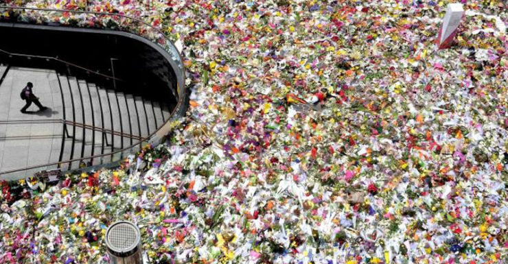 Thousands of floral tributes lined the city following the incident.