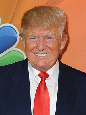 PASADENA, CA - JANUARY 16: Donald Trump arrives at NBCUniversal's 2015 Winter TCA Tour - Day 2 at The Langham Huntington Hotel and Spa on January 16, 2015 in Pasadena, California. (Photo by Angela Weiss/Getty Images)