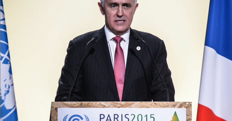 malcolm turnbull climate change