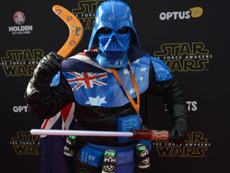 An Aussie twist on the Darth Vadar attire.