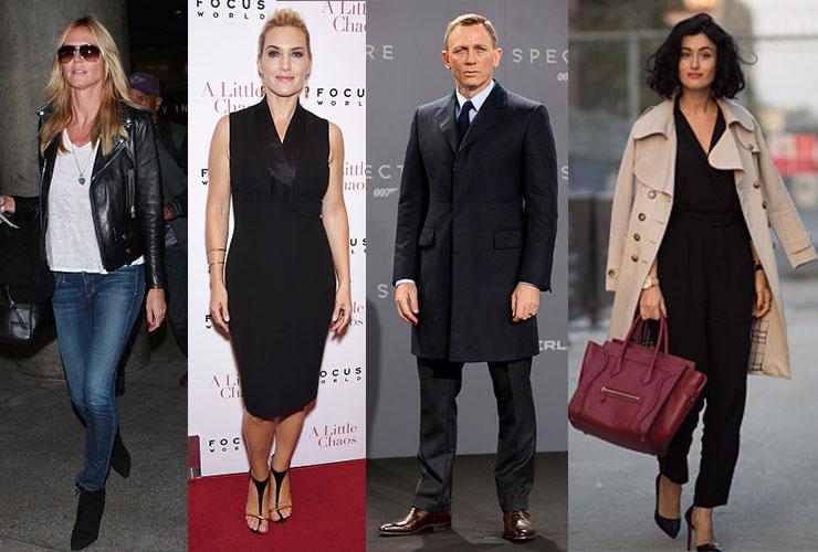 L-R: Heidi Klum, Kate Winslet, Daniel Craig and Elcin Sonakin. Photo: Getty