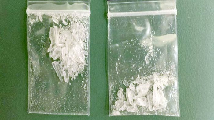 Authorities intercepted this batch of ice before it reached the street.