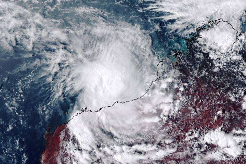 Cyclone Stan turned into a bit of a fizzer. Supplied: Landgate/Himawari