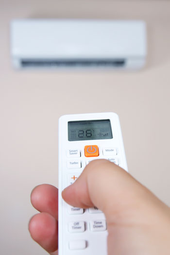 Setting your air-conditioner to a temperature around 25 degrees can save you money. Photo: Getty