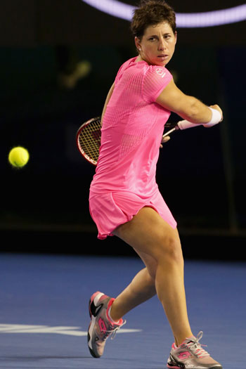 Carla Suarez Navarro will face Agnieszka Radwanska for a semi-final spot. Photo: Getty