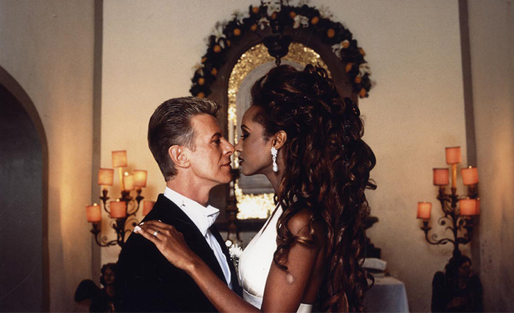 Bowie and Iman on their wedding day. Photo: HELLO! Magazine