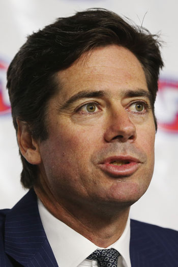 """AFL chief Gill McLachlan: """"It has been a sorry stain on our game but it will not define the Essendon Football Club."""" Photo: Getty"""