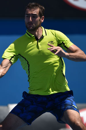 Marin Cilic just needed a Corona for this lime. Photo: Getty