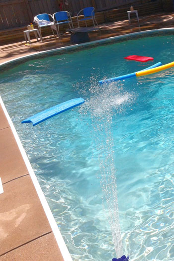 Turning off your pool pump if you head away is a useful tip to cut usage costs. Photo: Getty