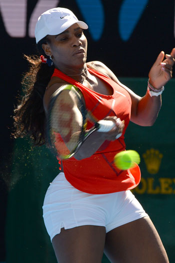 Serena Williams' fitness is, as usual, cause for concern. Photo: Getty